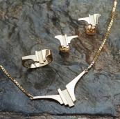 Handgemaakte gouden oorbellen